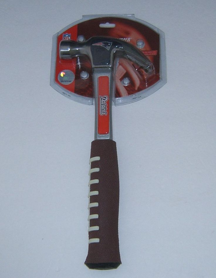 Team: New England Patriots, Super Bowl Champions. Construction grade all-purpose hammer. Mold rubber grip looks and feels like a football. Team colors and logo. | eBay!