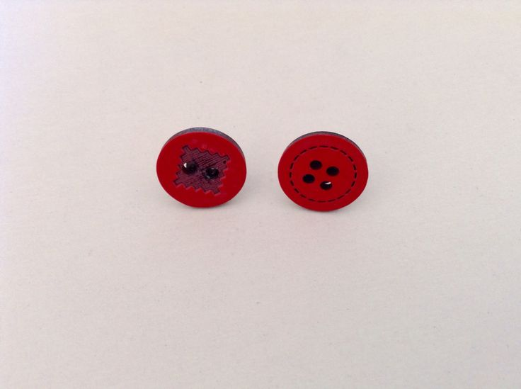 Earrings with buttons!!!