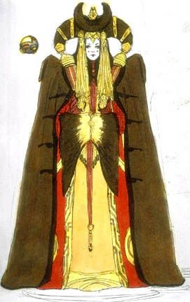 Star Wars Padme Amidala Galactic Senate Dress With Cloak - Original Concept Art
