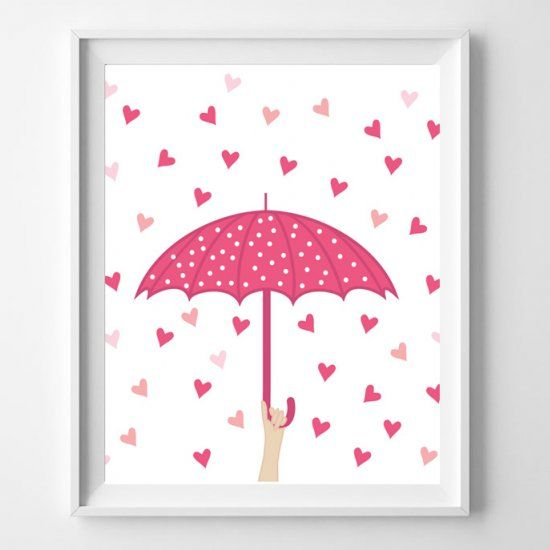 Could there be any sweeter image than a shower of hearts? Well, sure, but only if you add a pink polka-dotted umbrella! :)