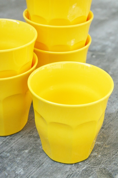Coloured Melamine Cups - Yellow £2.50