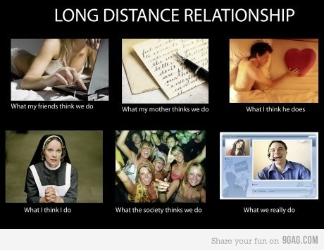 "This is about to be my life AGAIN.  I'm not sure I even what ""normal-distance"" is.  But this is super hilarious"
