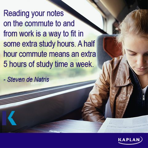 Study tip - Make the most of your time.