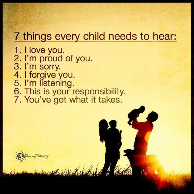 things child needs hear