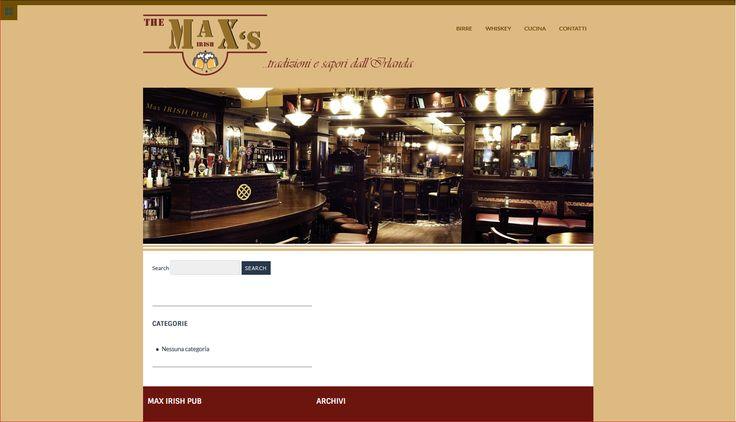 #progettazione #grafica #web #sito #wordpress passione e tradizione per la #birra e il #whiskey irlandese