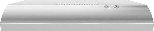 "Whirlpool - 30"" Recirculating Range Hood - Stainless-Steel - Larger Front"