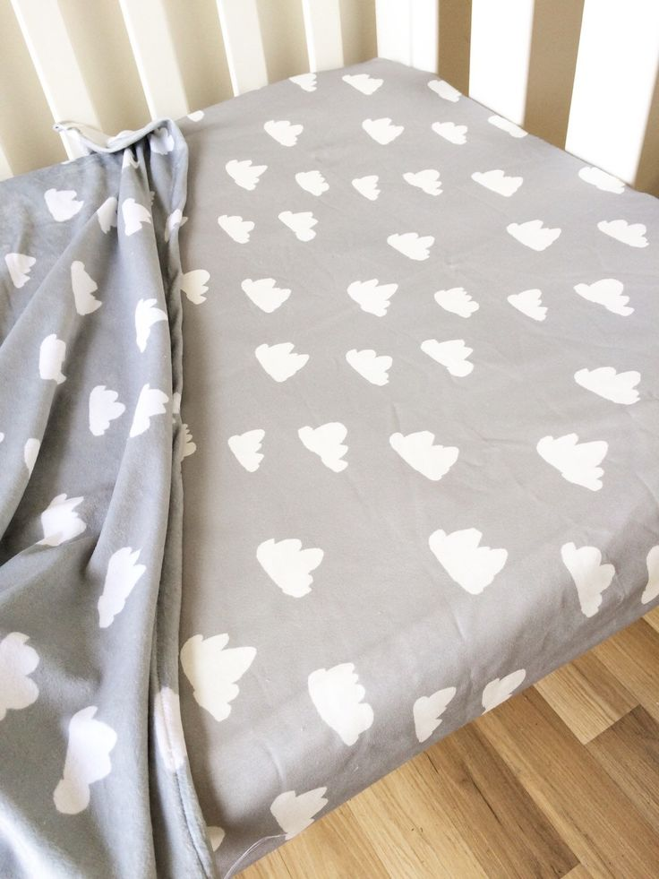 Grey gray Cloud - modern Fitted Cot Sheet, Crib Sheet, Nursery Fitted sheet by ElskeLittleStyle on Etsy https://www.etsy.com/listing/233340923/grey-gray-cloud-modern-fitted-cot-sheet