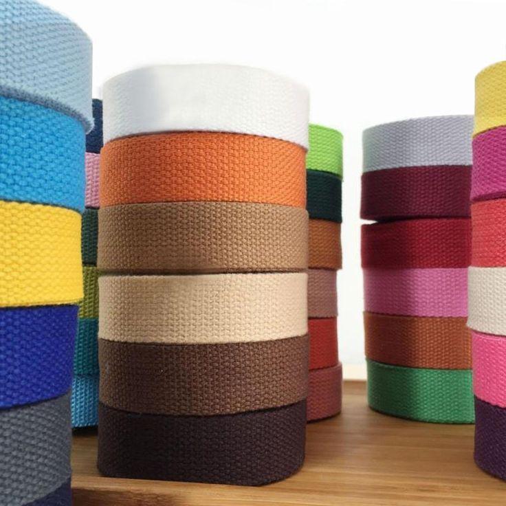 새로운 25 미리메터 (') 12 메터 캔버스 리본 벨트 가방 웨빙/라벨 리본/바이어스 바인딩 테이프 diy 공예 프로젝트 40 색 무료 배송
