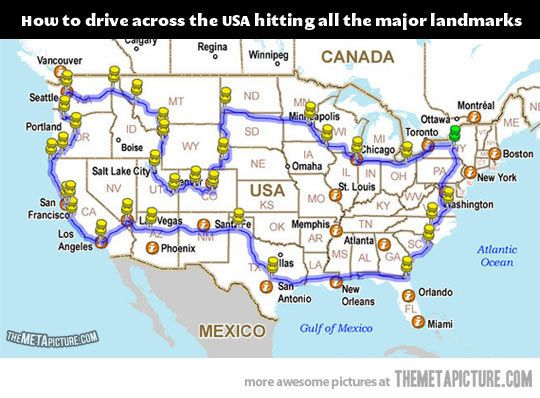 This would be an awesome road trip…