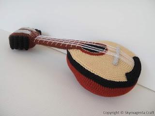Mandolin  Skymagenta's crochet crochet musical instrument