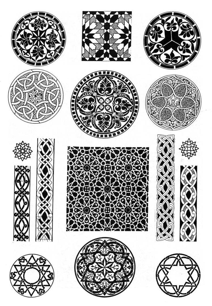 арабские узоры и орнаменты