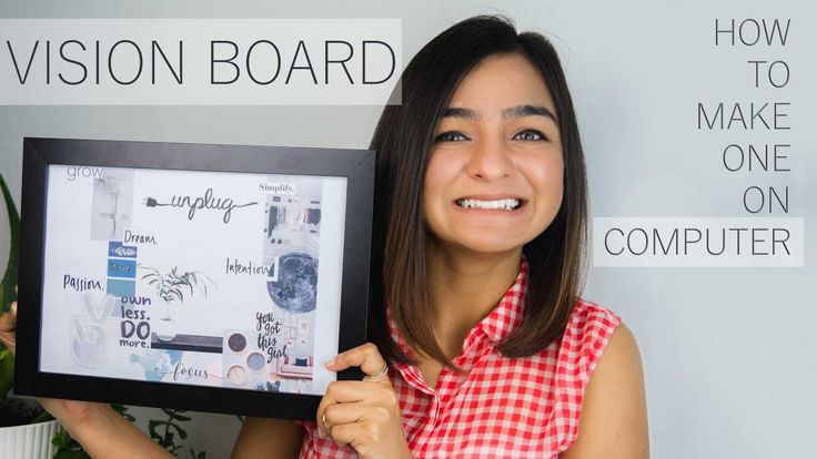 How to make vision board that really works on computer | online