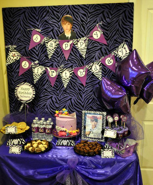 "Justin Bieber / Birthday ""Saleana's 16th Birthday Party "" | Catch My Party"