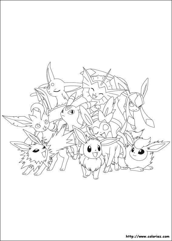 Coloriage Pokemon Evolution Evoli Pokemon Coloring Pages