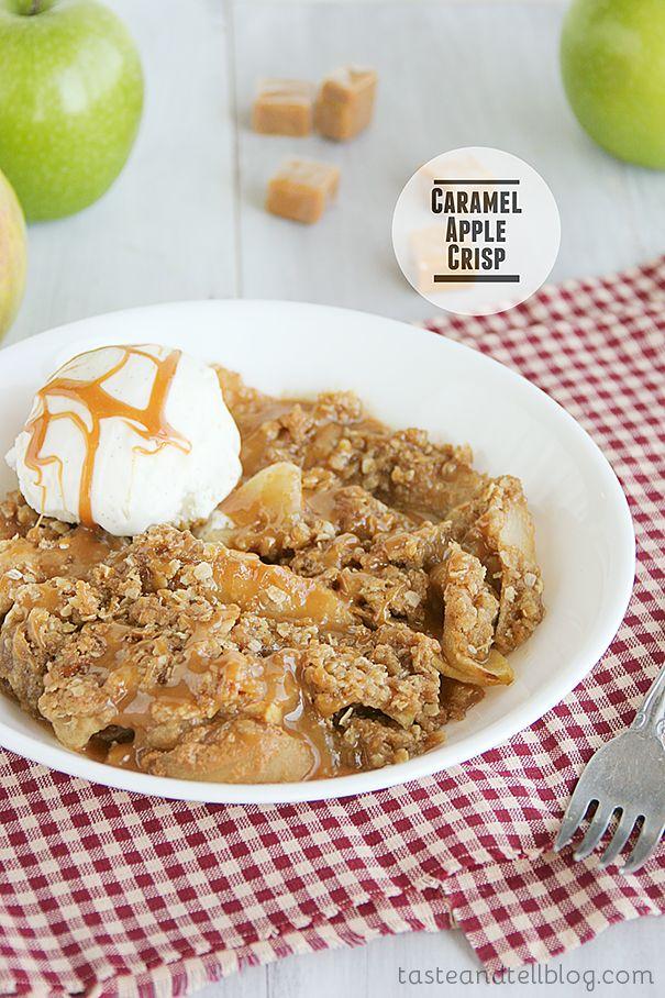 Caramel Apple Crisp | www.tasteandtellblog.com