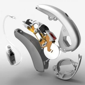 El interior de un audífono
