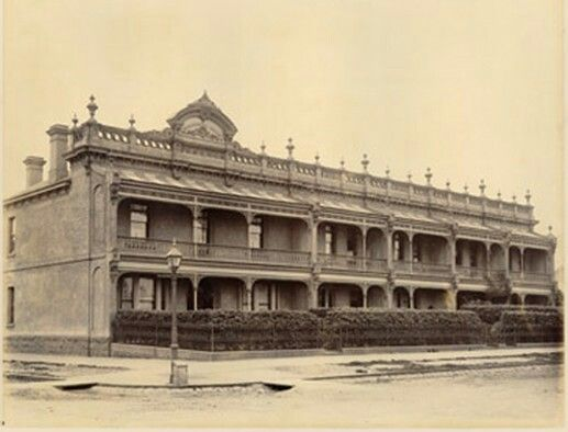 Hambleton House at 44 St Vincent's Place,South Melbourne in Victoria (year unknown).