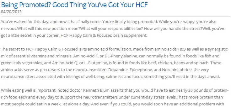 Being Promoted? Good Thing You've Got Your HCF