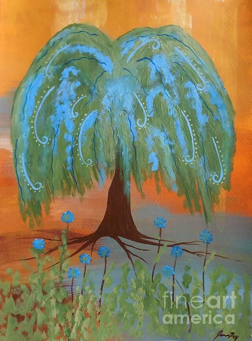 Grandmother Willow Tree Art Print By Jeanne Fry Listed On Fine Art America