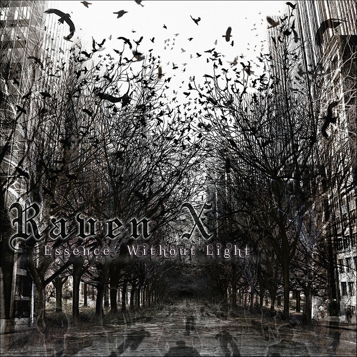 """Cover artwork for the debut Raven X album """"Essence Without Light""""  More info here: http://www.facebook.com/photo.php?fbid=10151446550535890=a.10151227726950890.478598.51903025889=1"""