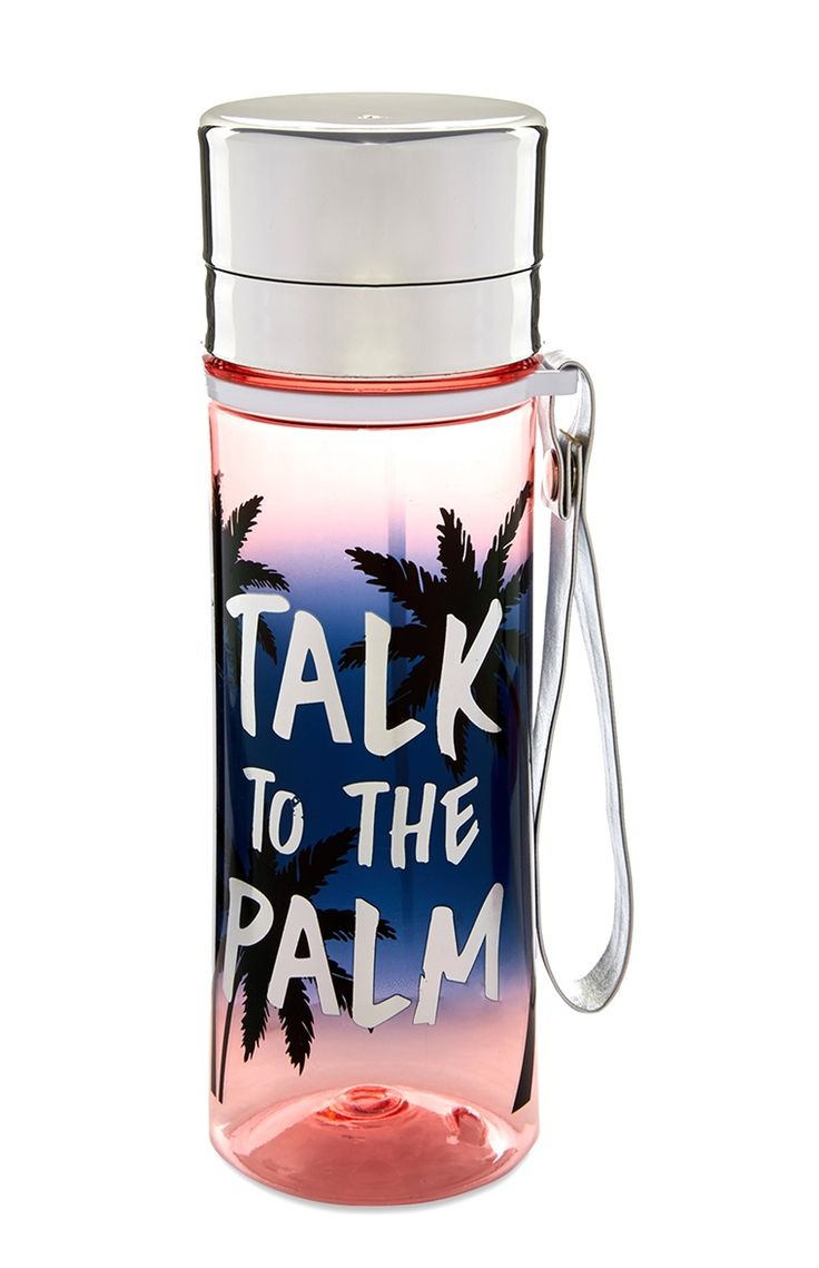 "Primark - ""Talk to the Palm"" Trinkflasche"