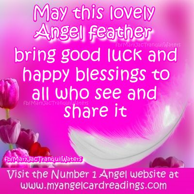 Lucky Angel feather - Unicorn magic - Gold - Wishes - Image quotes - Sayings - Good luck - wishes