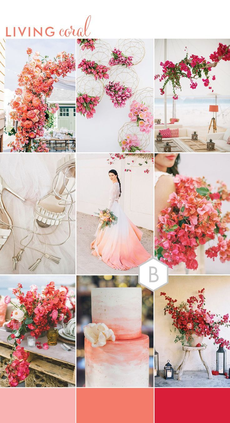 59e1ab4b7af4e Living Coral: Wedding Ideas Inspired by Pantone's Colour of the Year 2019