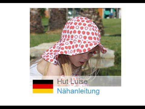 "Sommerhut / Hut / Sommermütze selber nähen ""LUISE"" - nähen für Anfänger - YouTube"