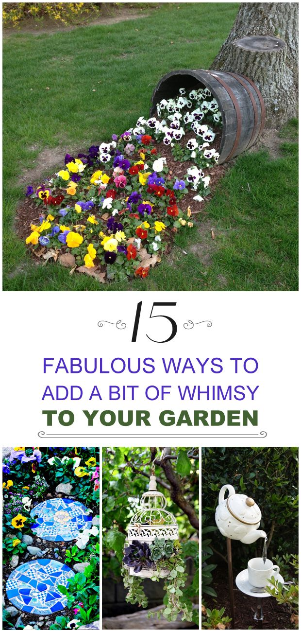 Funky backyard garden ideas - 15 Fabulous Ways To Add A Bit Of Whimsy To Your Garden