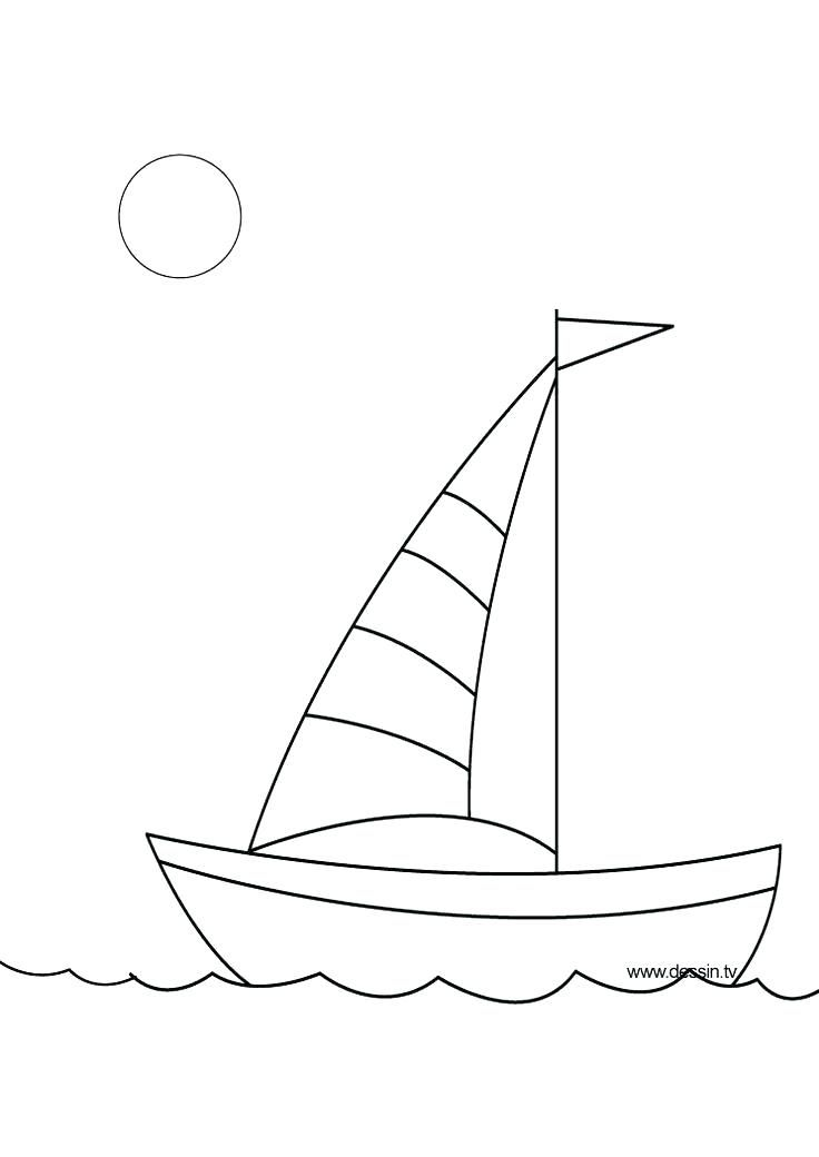 Draw A Boat Drawing Boat For Kids How To Draw A Boat Step By Step