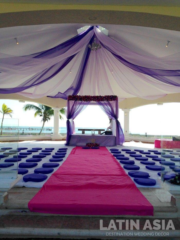 #indiandestinationweddings #palki #purple @weddingcancun