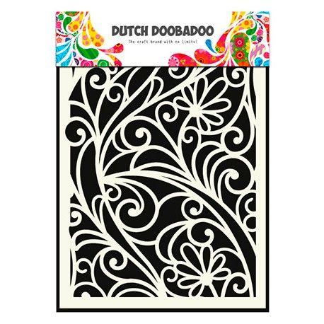 pochoir mask dutch doobadoo motifs fleur arabesque. Black Bedroom Furniture Sets. Home Design Ideas