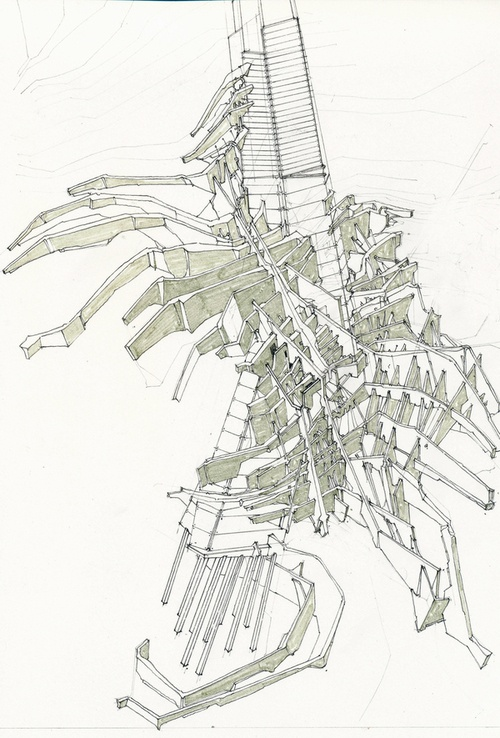 54 best chris lopez studio images on pinterest art for Paper for architectural drawings