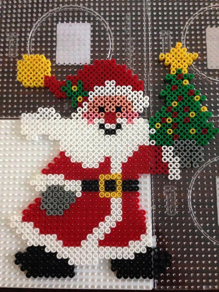 Santa Christmas hama perler beads by Dorte Marker