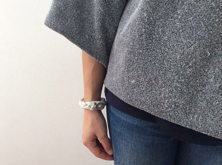 100% handmade 100% made with love _ bracelet _ fabric+clay