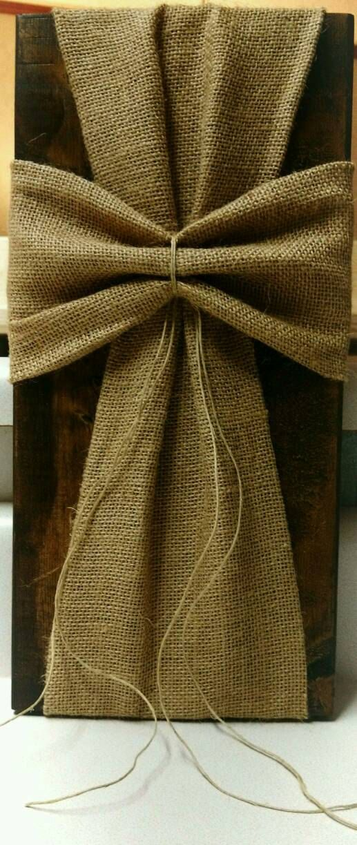 Hey, I found this really awesome Etsy listing at https://www.etsy.com/listing/288672433/burlap-fabric-wrapped-wooden-cross