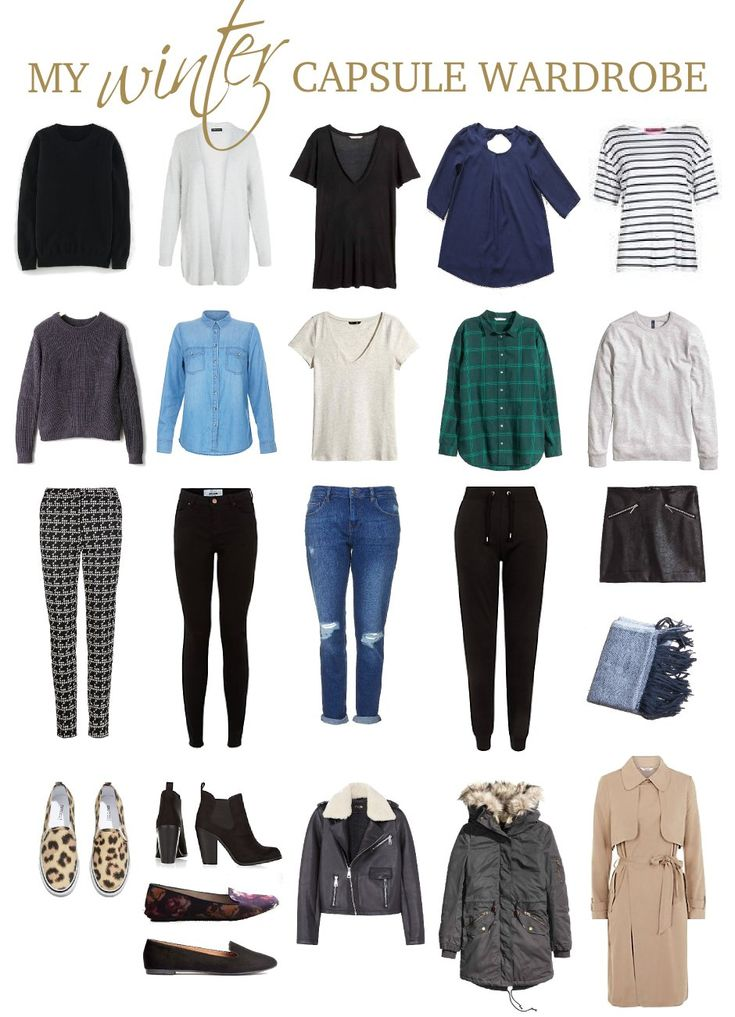 A Winter Capsule Wardrobe (my First One