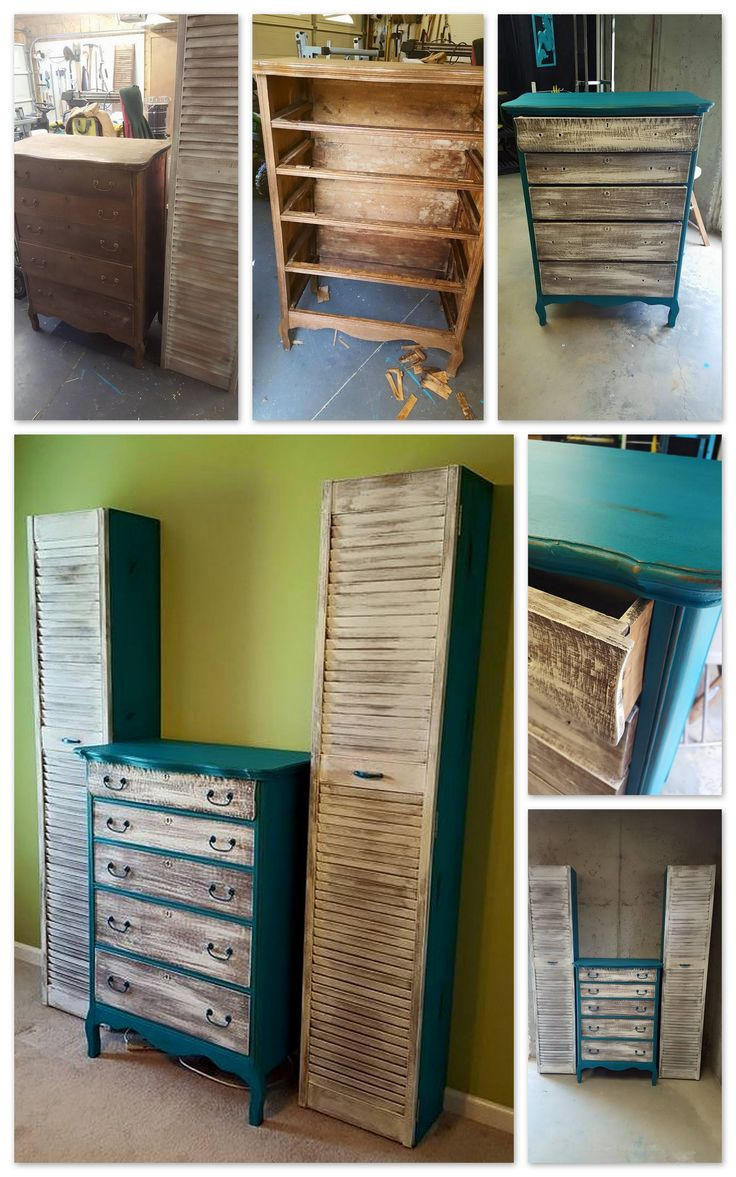 redid this dresser and added louvered doors to these 2. Black Bedroom Furniture Sets. Home Design Ideas