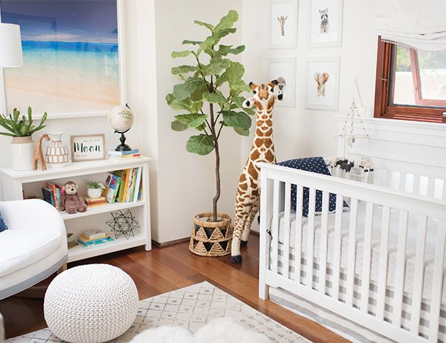 Alex and Kyle Mark Johnson welcomed their new baby, Levi William Johnson, into this beautiful grey and blue baby boy nursery!