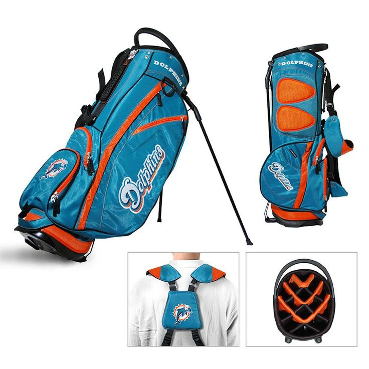 Miami Dolphins NFL Stand Bag - 14 way Fairway