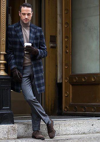 スエードシューズで上質な印象のコーデ ■40代アラフォー『スラックス』メンズ