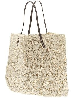 Michael Stars Lace Crochet Tote | Piperlime {an affordable alternative to Olivia Palermo's raffia tote}