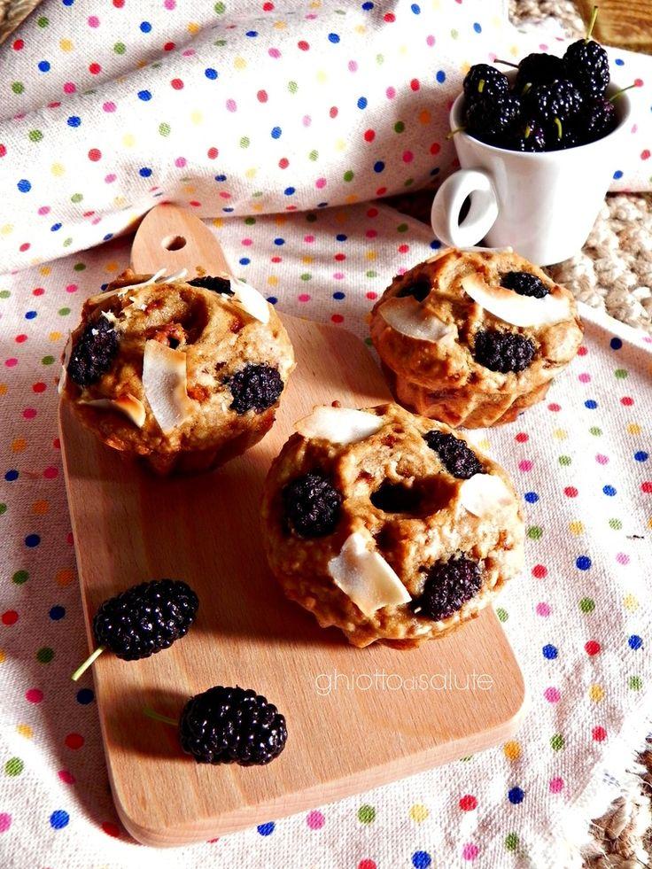 Muffin vegani con more | Ghiotto di Salute