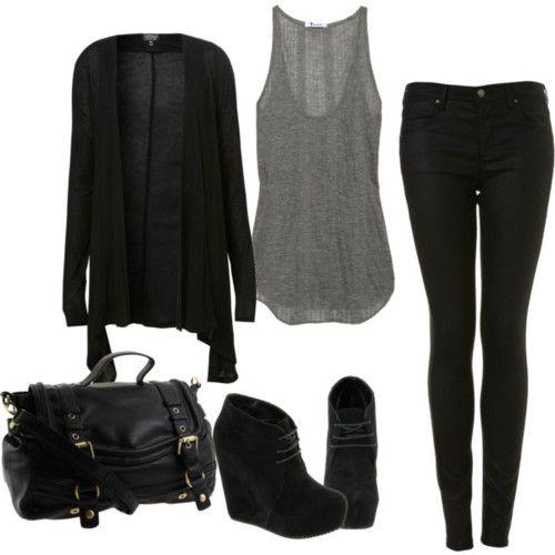 comfy black.