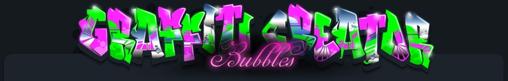 Graffiti Font - Bubbles.  Write your own graffiti in several fonts and paint techniques.  The kids really like this too!