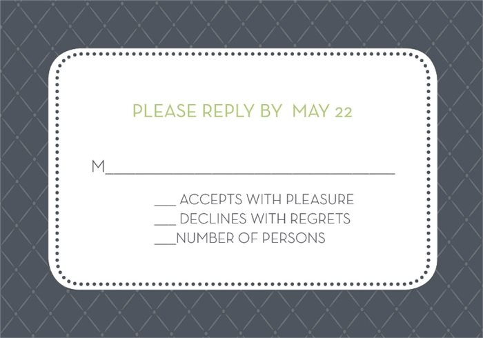 Initials Monogram Grey Response Cards