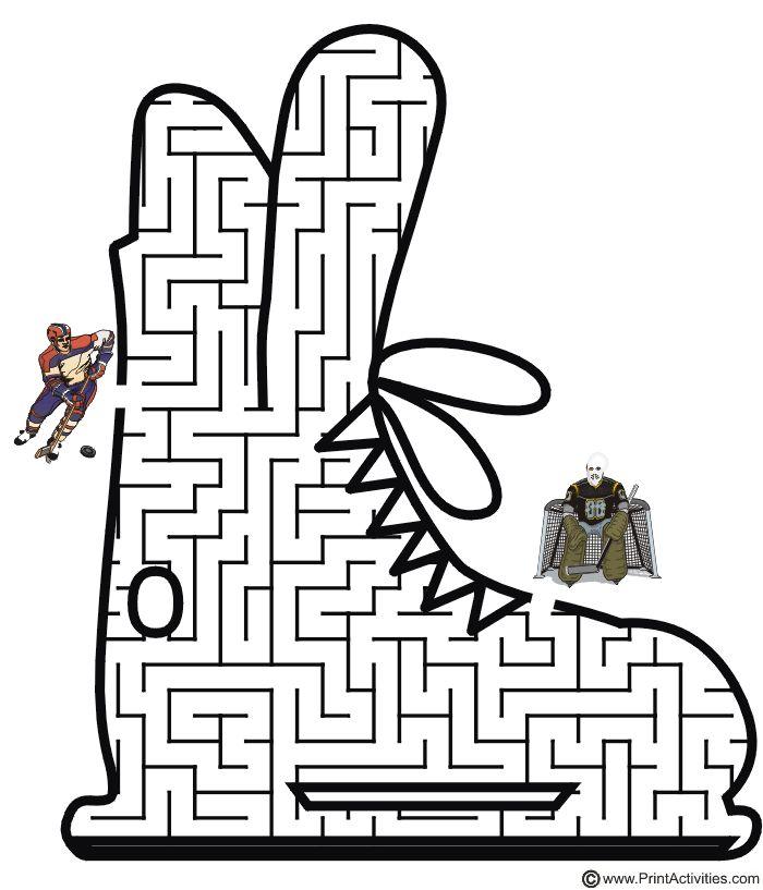 Hockey Maze: Get the hockey player to the net.