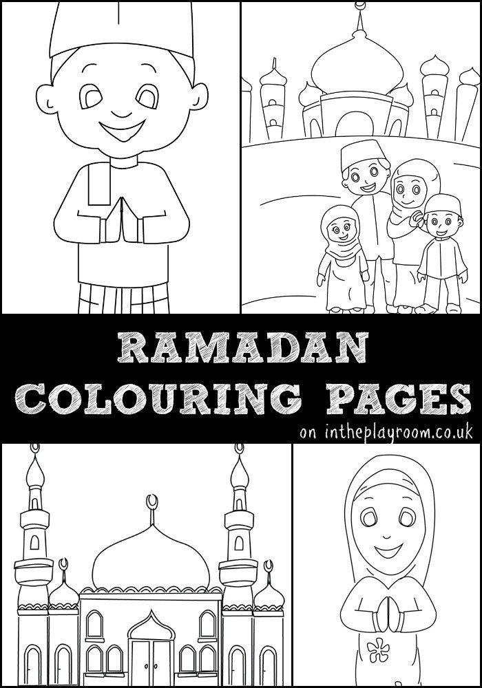 Ramadan Colouring Pages Featuring Muslim Children Muslim Family And Mosque Colouring Pages Free Printables Ramadan Kids Ramadan Activities Colouring Pages
