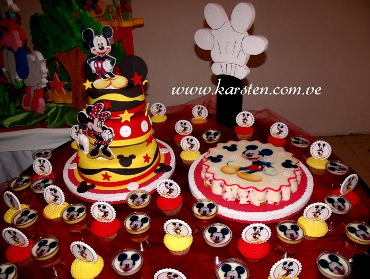 Torta, Gelatina, Cupcake´s de Mickey Mouse | party | Pinterest ...