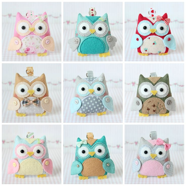 Barbara Handmade felt owls. Inspiration only